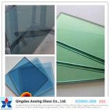 性質の緑か淡いブルーのカラーかToughedまたは浮遊物明確な反射ガラス