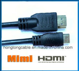Mini HDMI au câble de HDMI pour la tablette ou l'ordinateur portatif au support de TVHD