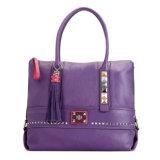 Повелительница мешка сумка плеча оптовой дешевой кожи мешка пурпуровая