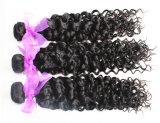 バージンの人間の毛髪のジェリーのカールの自然なカラーブラジルの毛のよこ糸