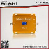 Aumentador de presión móvil dual de la señal de la venda 3G 4G CDMA/Dcs de la alta calidad con el LCD