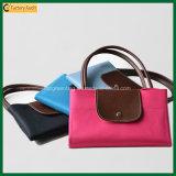 Bellas damas bolsos de poliéster plegable bolsas de mano (TP-TB148)
