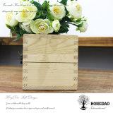 Boîte de empaquetage à vin en bois fait sur commande de Hongdao avec le logo fait sur commande Wholesale_L