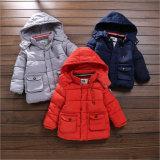 Revestimento Button-Down do algodão do menino para a roupa das crianças