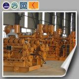 As microplaquetas de madeira dos geradores industriais usaram o gerador de madeira Lvhuan 400kw do gás do alternador eficiente elevado do ISO Siemens do Ce com central energética de Syngas