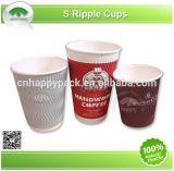Copas de colores de papel impreso Ripper con tapa