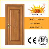 Porta de madeira contínua do quarto interior do folheado (SC-W115)