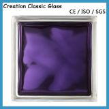 Ladrillo de Cristal Claro O Coloreado de 190*190*80m M del Bloquear-Vidrio para la Pared