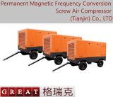 Tipo móvel compressor do uso da indústria de edifício do rotor do dobro