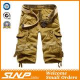 Shorts cachi del carico di estate degli uomini con le caselle laterali