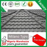 Prix usine enduit de tuiles de toit d'échelle de poissons de Rose de tuile de toit en métal de pierre chaude de vente de l'Afrique