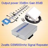 ripetitore di GSM di alto potere dell'uscita 2watt di guadagno di AGC Mgc 85dB del ripetitore di 2watts GSM
