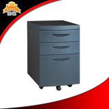 Ящика металла 3 офисной мебели шкаф хранения опиловки самомоднейшего передвижной