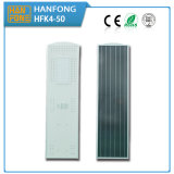 Venta caliente Incluir LiFePO4 Battery Street Integrado solar de luz LED (HFK4-50)