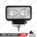 Truck, Trailer, Offroad 및 무거운 Duty Equipment를 위한 20W 크리 말 Chip 1800lm LED Work Light (HML-0920)
