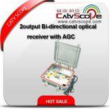 AGC를 가진 옥외 2가지의 방법에 의하여 출력되는 양지향성 광학 수신기