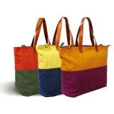 Bolso de compras no tejido de papel de la maneta de la lona del algodón del bolso de compras del regalo (X020)