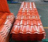 La placa de azotea de acero del trapezoide/esmaltó el azulejo de material para techos coloreado del metal