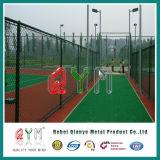 Гальванизированная загородка звена цепи для загородки сада Baseball/PVC Coated