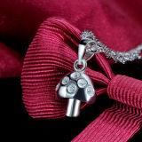 Collana Pendant Fungo-A forma di sveglia dell'argento sterlina delle donne 925 con la catena