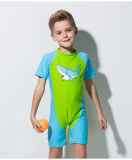 &One-Часть Waterwuit мокрой одежды втулки материального малыша Lycra короткая