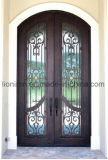 トランサムの出入口のタイプ熱い販売の錬鉄の装飾の機密保護のドア