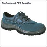 Zapato de trabajo ligero de las mujeres de la inyección de la PU del cuero del ante
