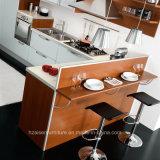 De oranje Vinyl Verpakte Keukenkast van het Membraan van pvc