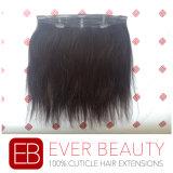 クリップRemyのバージンの人間の毛髪の織り方が付いている毛のよこ糸