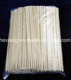 大きさの使い捨て可能なタケ箸を卸しで製造する箸