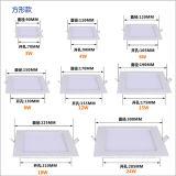 Quadratische 24W LED Instrumententafel-Leuchte, 300mmx300mm
