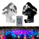 lampada subacquea dello stagno di pesci della piscina dell'indicatore luminoso 3000k 6500k RGB di 10W IP68 LED