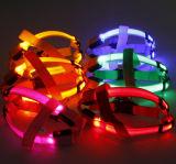 ナイロン夜歩く鎖LED犬の馬具