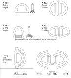 Gesmede D-vormige ring en Container die de Punten van D geselen