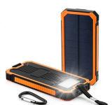 la Banca impermeabile di energia solare della centrale elettrica 15000mAh con indicatore luminoso di campeggio