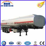 3 carburant /huile inflammable d'acier du carbone de l'essieu 50cbm/camion-citerne de service de diesel/essence/pétrole brut avec le silo 4