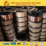 Produit de cuivre de soudure de soudure de fil de soudure du fil de soudure de MIG du solide Er70s-6 Sg2 G3si1 avec le boisseau 15/20kg/Plastic de 1.0mm
