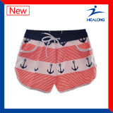 Healong Sublimated Shorts da praia do poliéster do Mens