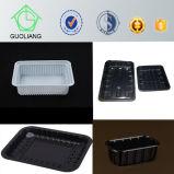 Vakuum, das Plastiktiefkühlkost-verpackentellersegment für gefrorenes Huhn-Fleisch mit Fleisch-Absorptionsmittel-Auflage bildet