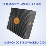 Repetidor de potencia de salida de la señal del teléfono celular de venda de DCS 1800 WCDMA 2100MHz de 23dBm GSM900 tri
