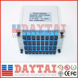 Divisore ottico tipo a cassetta del PLC 1X8 della fibra della fabbrica