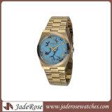 Случай нержавеющей стали способа и wristwatch вахты золота (RS1133)