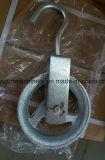麻ロープのための塗られた黒いブロック