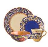 Azzurro stabilito di Luna del padellame del padellame di ceramica di imitazione per la casa