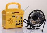 Solar Home LED Lighting Sistema de energia com rádio FM Carregador USB Controle remoto SD Card Player
