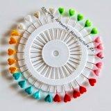 Belle roue principale en plastique de Pin droit de tête de perle de mode pour Hijab