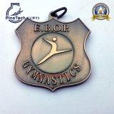Medaglia di sport di ginnastica con rivestimento Bronze antico