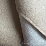 Tissu de cuir de polyester de tissu de Chammy de suède avec le traitement de clinquant d'or