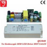 30-46W 0-10V nenhum excitador Stroboscopic Dimmable do diodo emissor de luz do triângulo