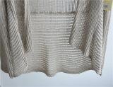 Lange HülseOpean gekopierte Knit-Wolljacke für Damen